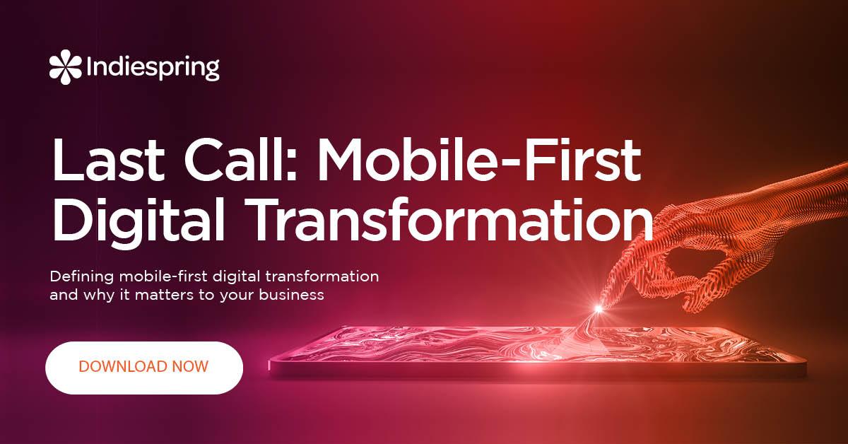Indiespring Mobile First Digital Transformation Header