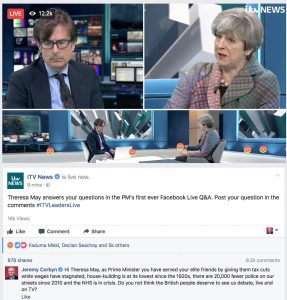 Theresa May's Facebook Live Interview shows how you need to change your facebook live strategy