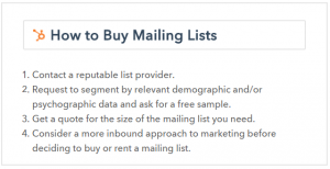 Buying Newsletter lists isn't the best idea